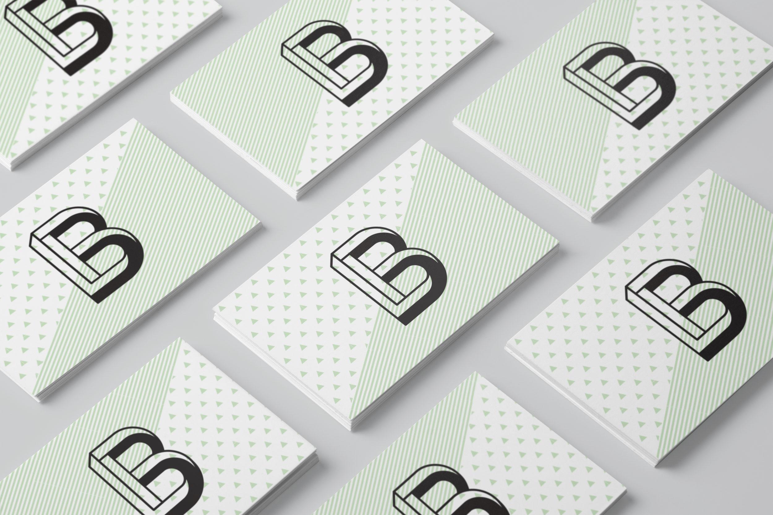 Business card design for born in brunswick, melbourne logo design, logo design melbourne