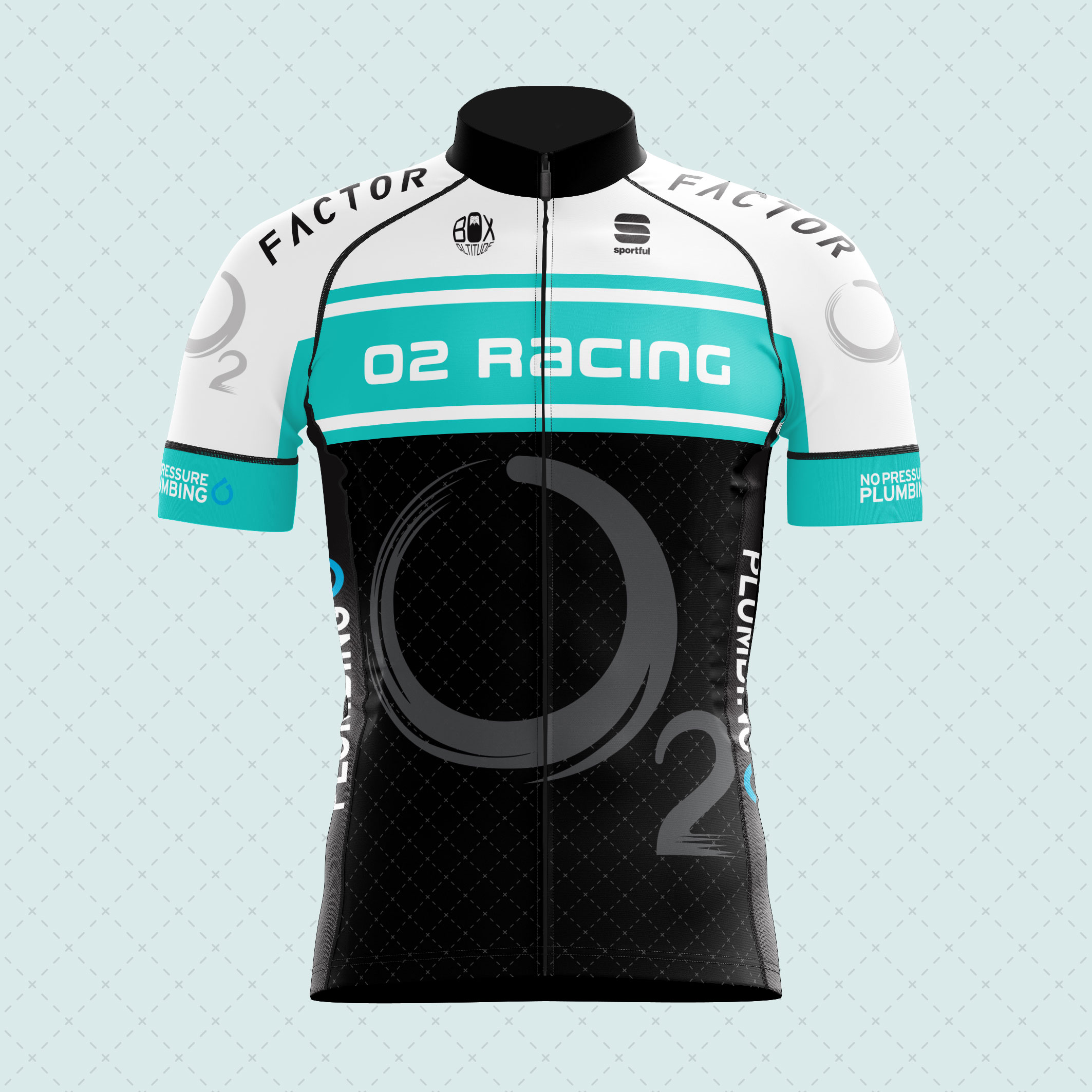 O2 Racing cycling kit manufactured by Sportful