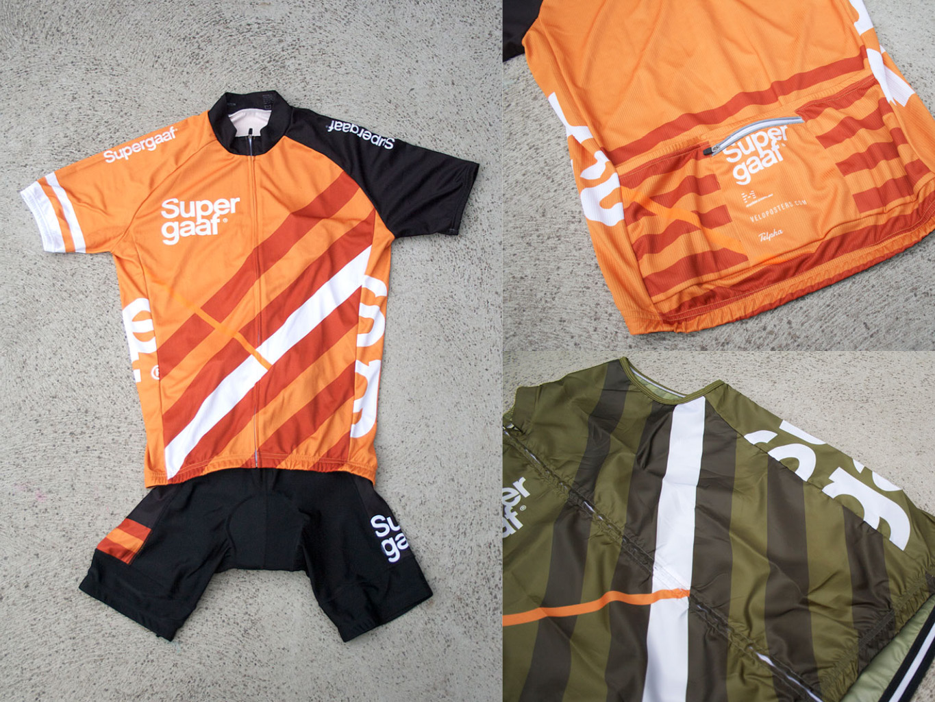 Supergaaf cycling kit manufactured by Sommerville Sports (Australia)