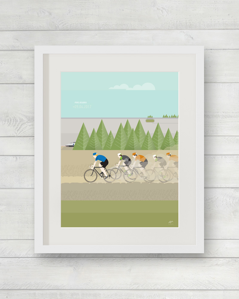 veloposters Roubaix print limited edition