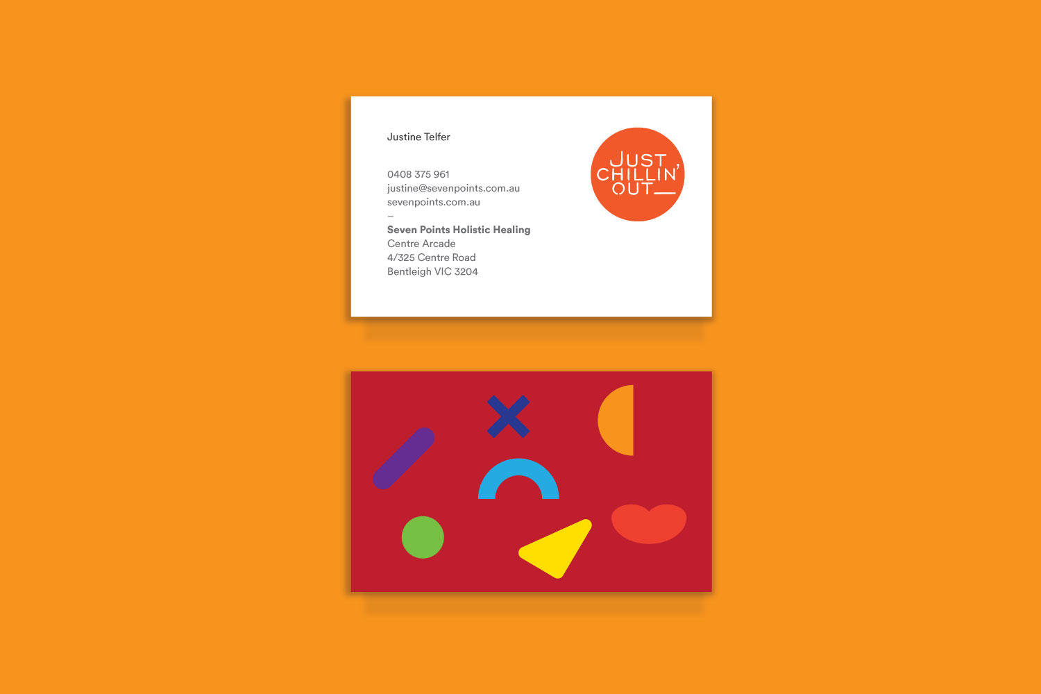 Just Chillin Out business Card