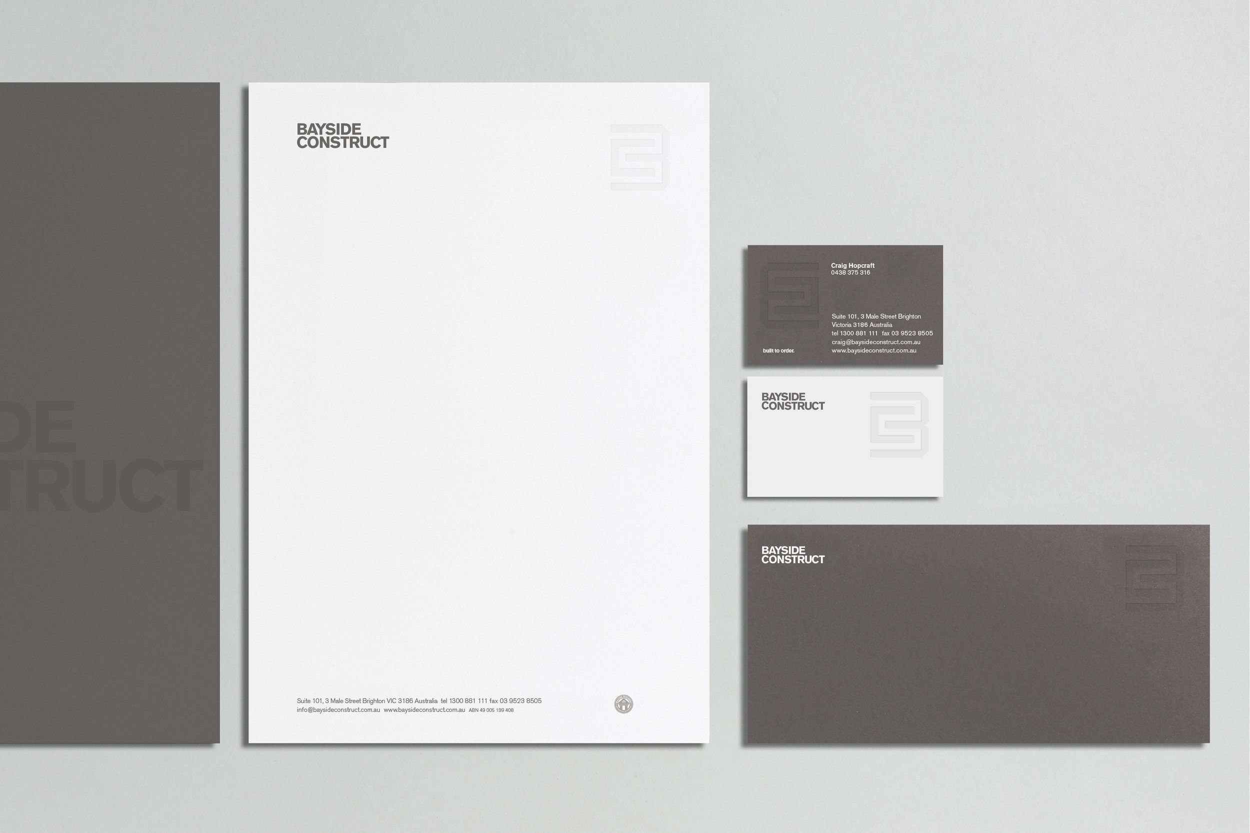 bayside Construct identity collateral