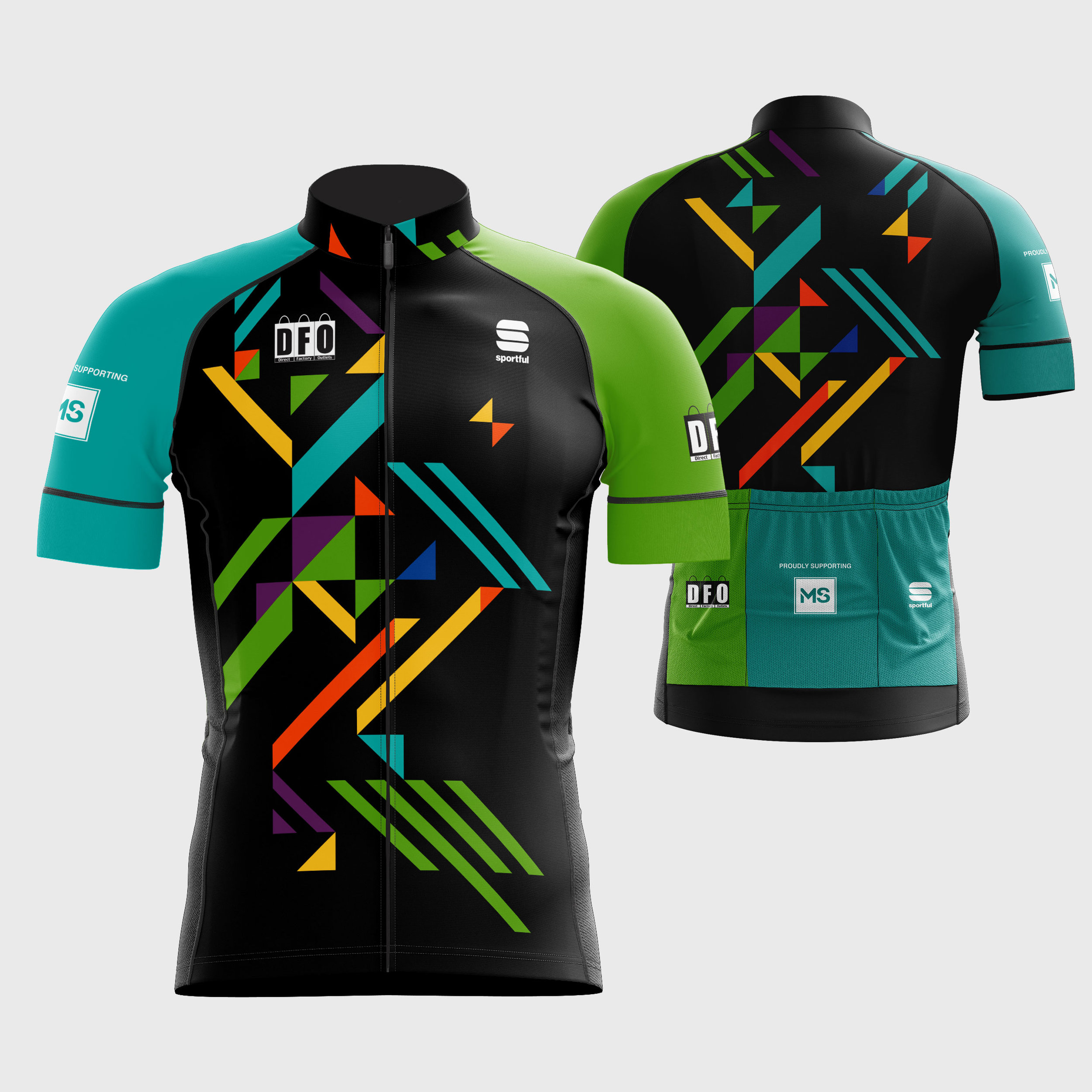 DFO cycling kit manufactured by Sportful