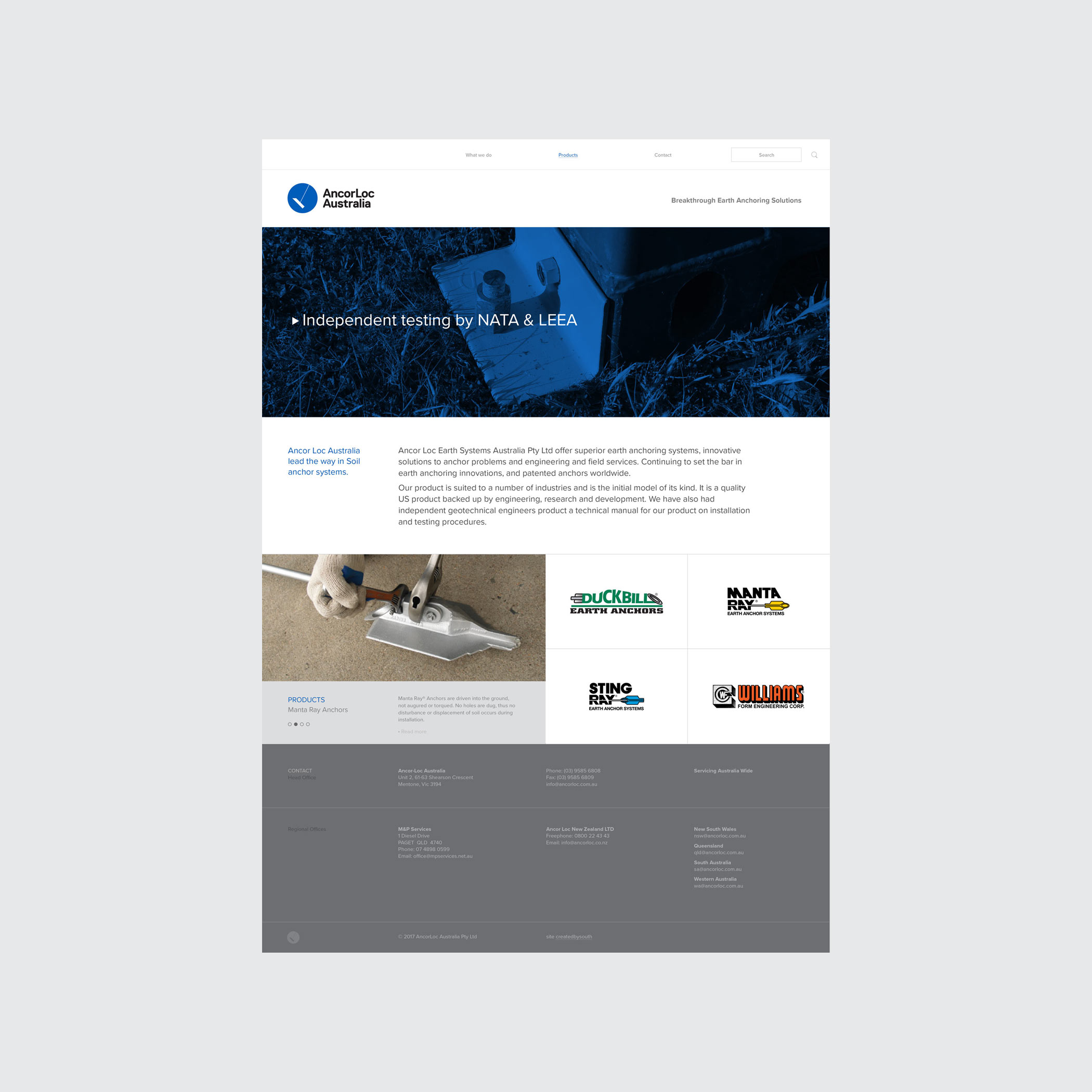 AcorLoc website design and build