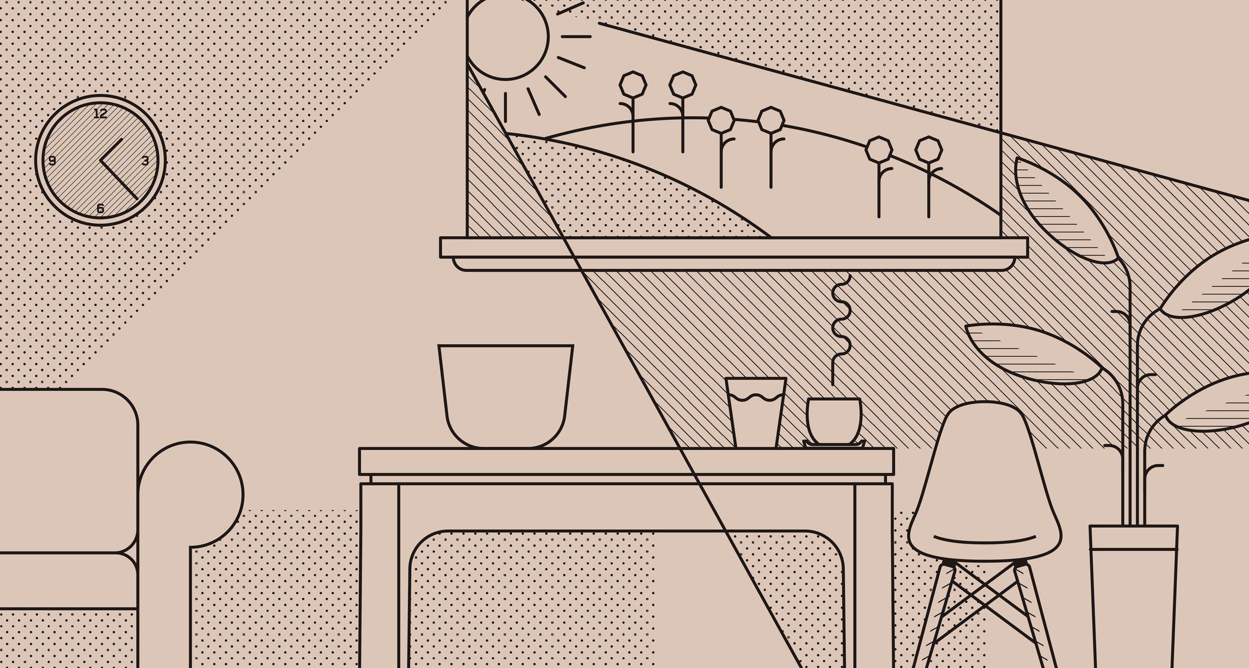 Rubia Coffee Chai illustration