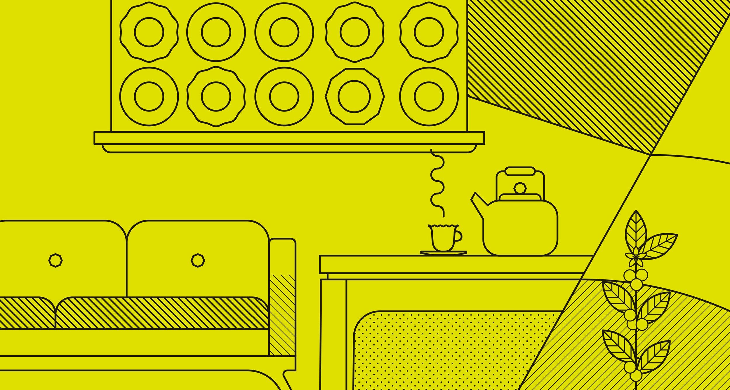 Rubia Coffee Tea illustration