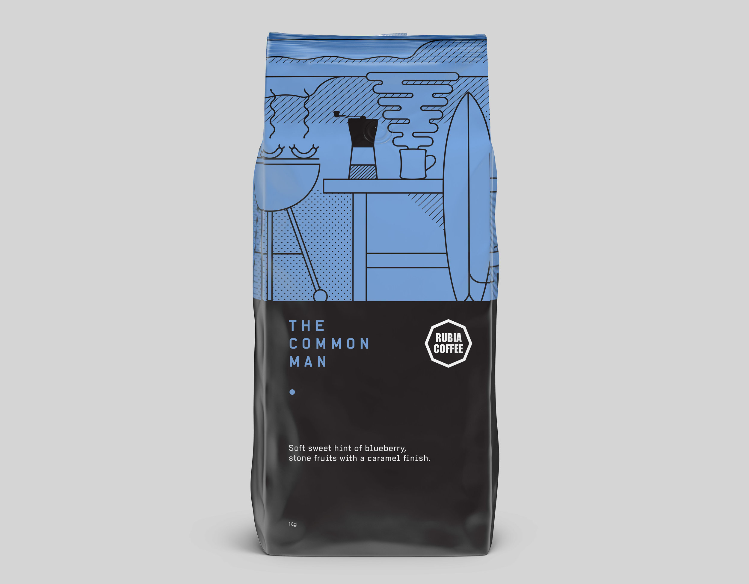 Rubia Coffee The Common Man packaging design Graphic design melbourne, branding design melbourne, branding design, packaging design melbourne, design studio melbourne, graphic design
