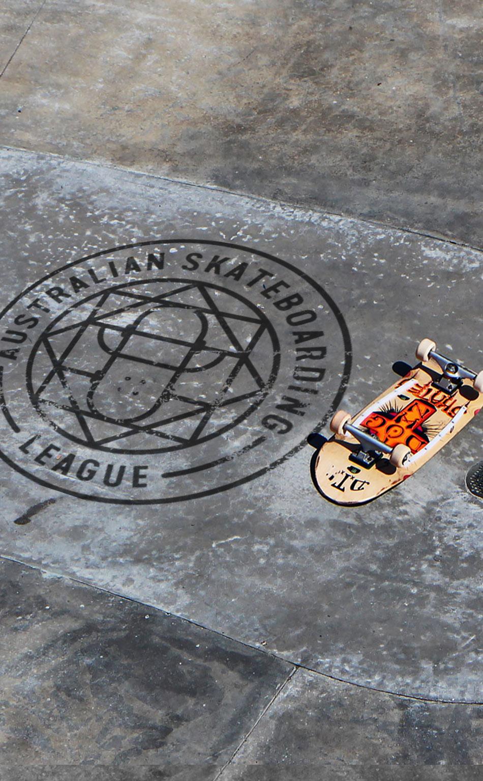 Australian Skateboarrding League logo Graphic design melbourne, branding design melbourne, branding design, packaging design melbourne, design studio melbourne, graphic design