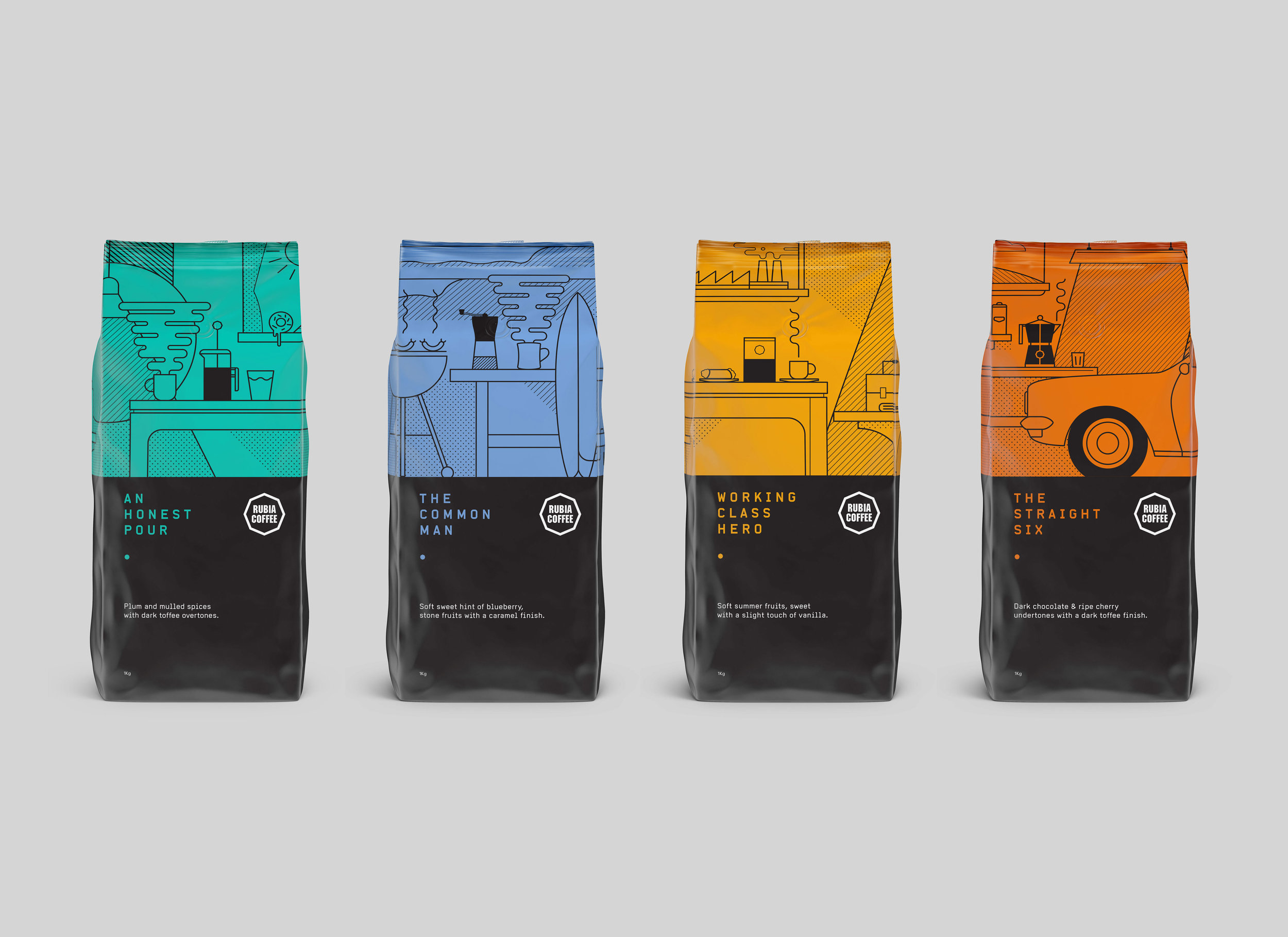 Rubia Coffee Packaging