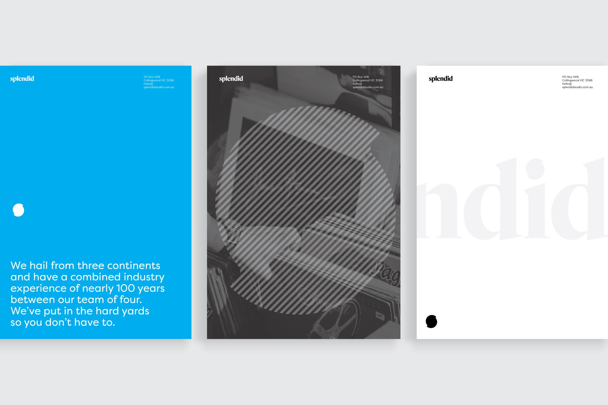 Splendid Studio collateral design