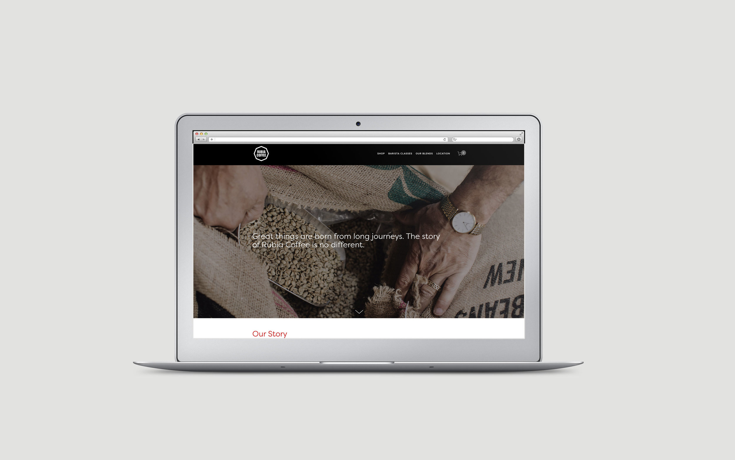 Rubia Coffee website design by created by south