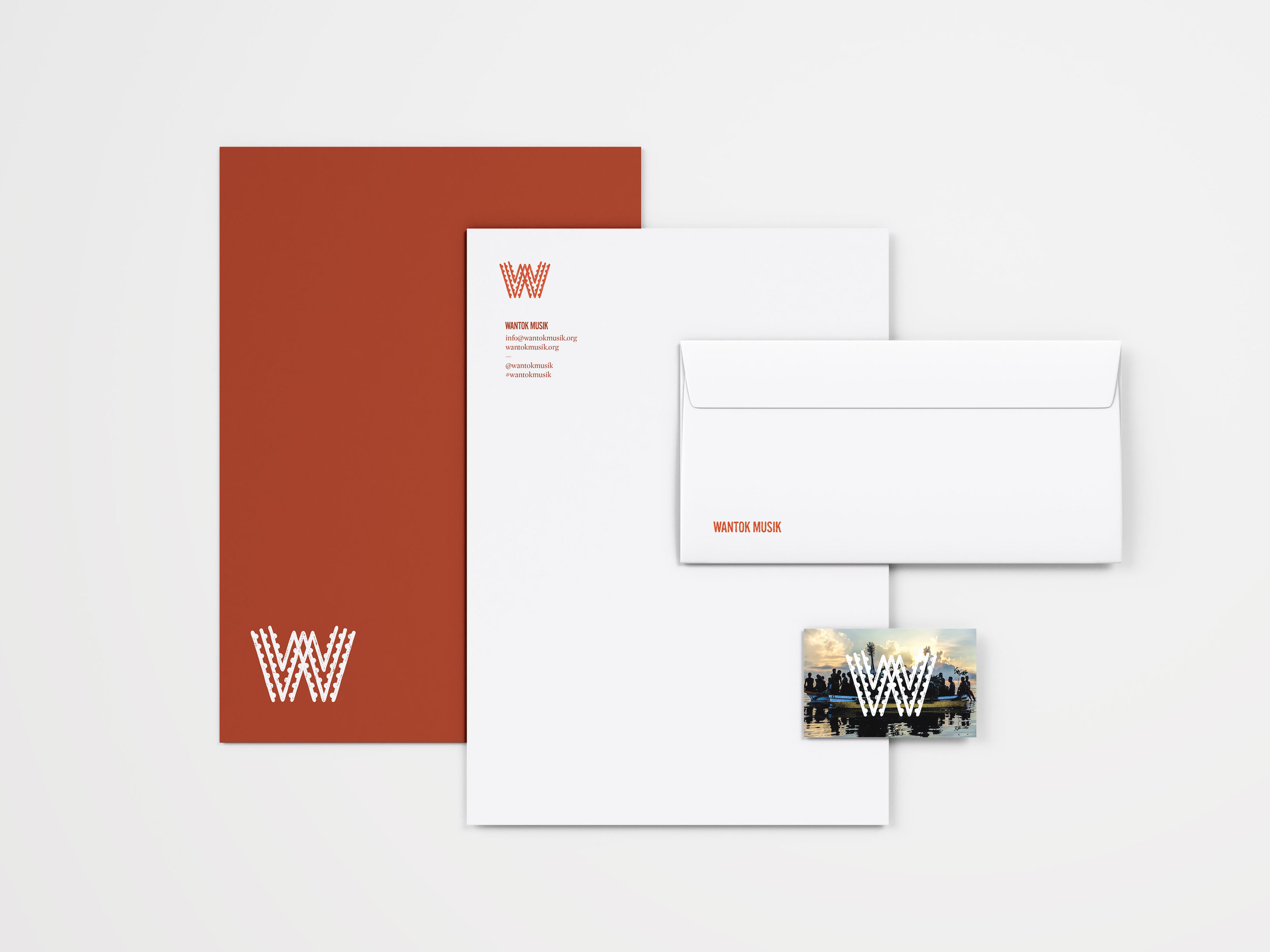 Wantok Musik Collateral, part of the branding project by created by south