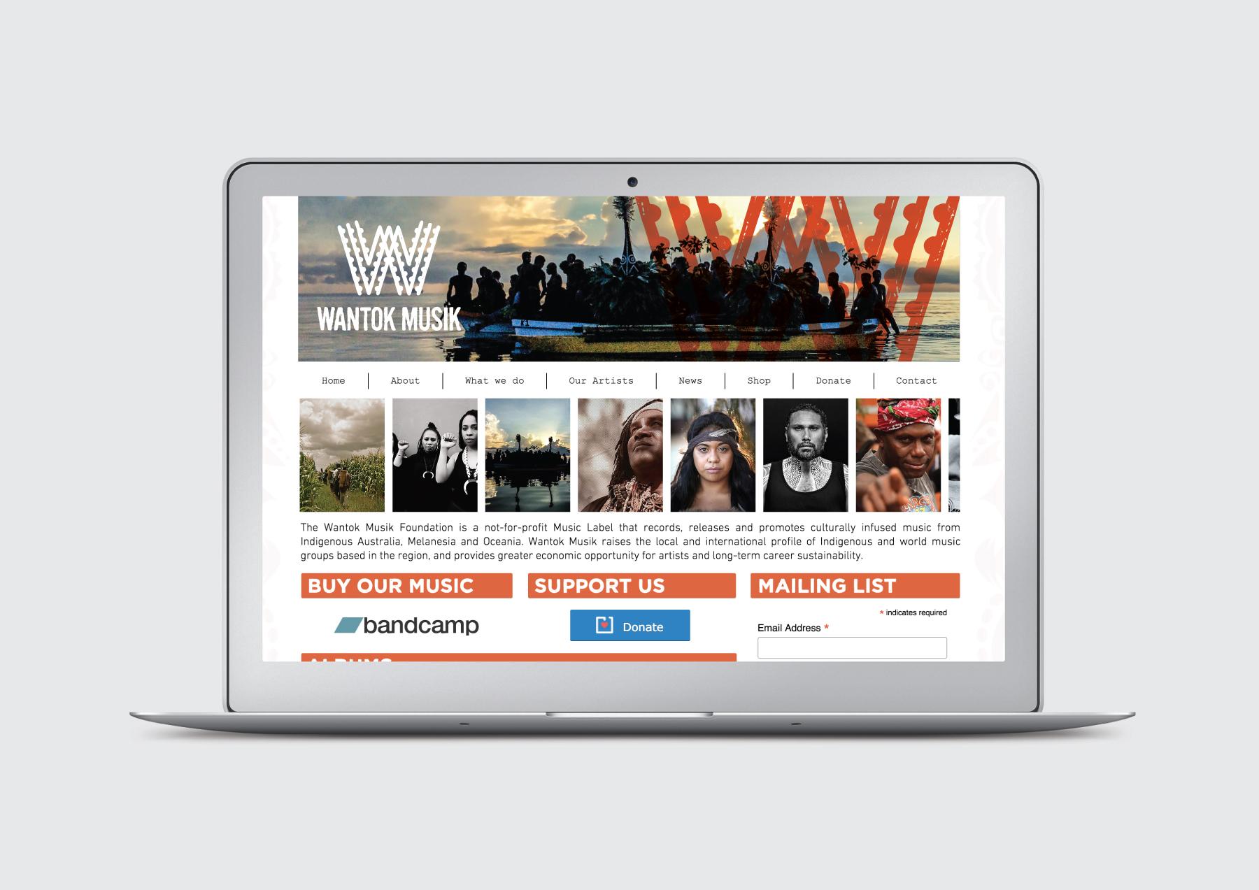 Wantok Musik Website banner