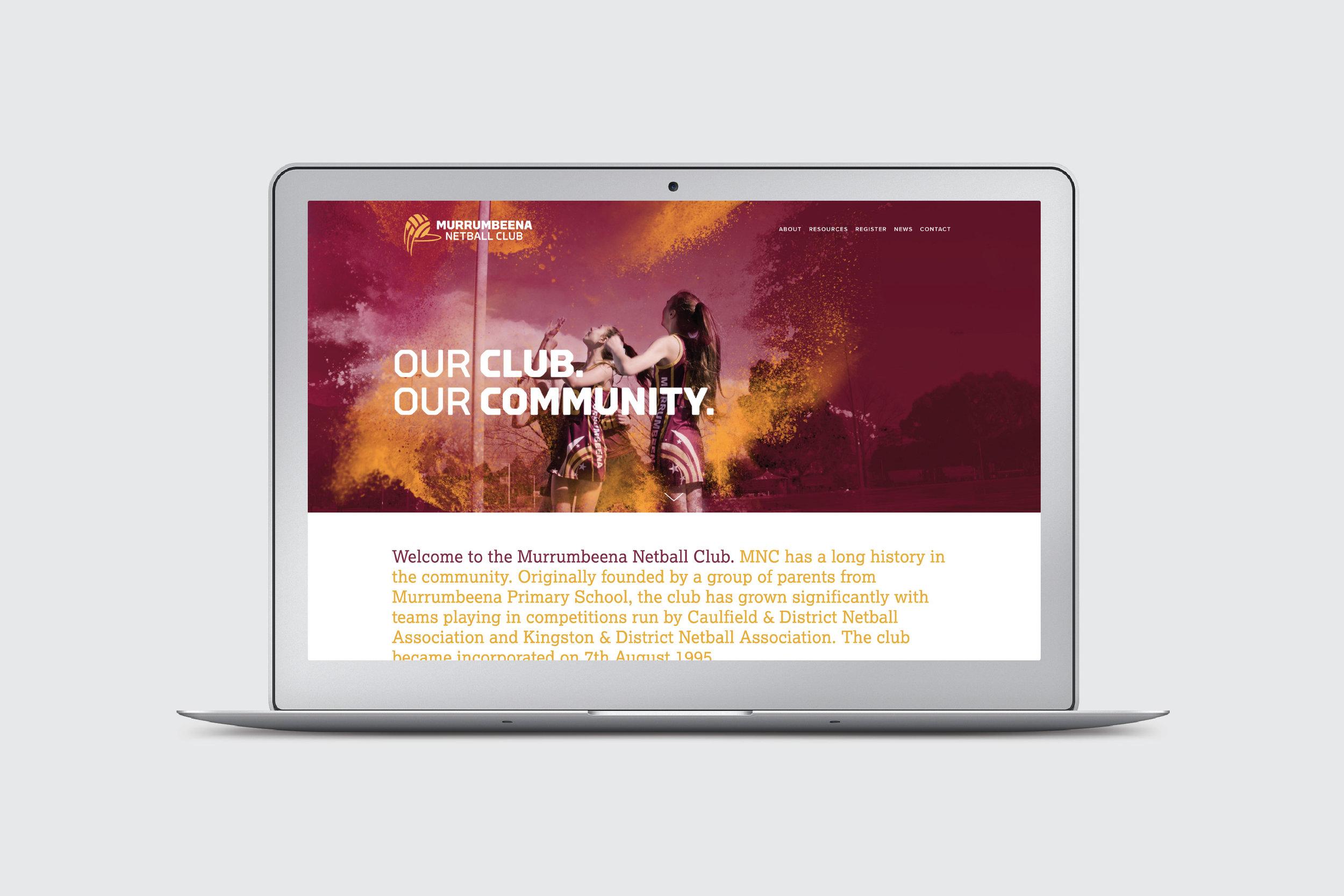 Murrumbeena Netball Club - Branding, Online, Apparel, Collateral