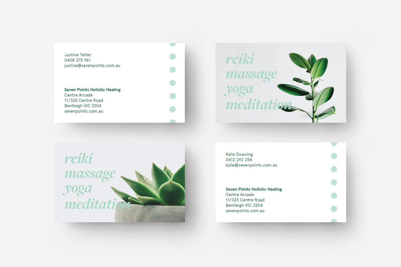 Seven Points business cards, branding melbourne, melbourne branding design