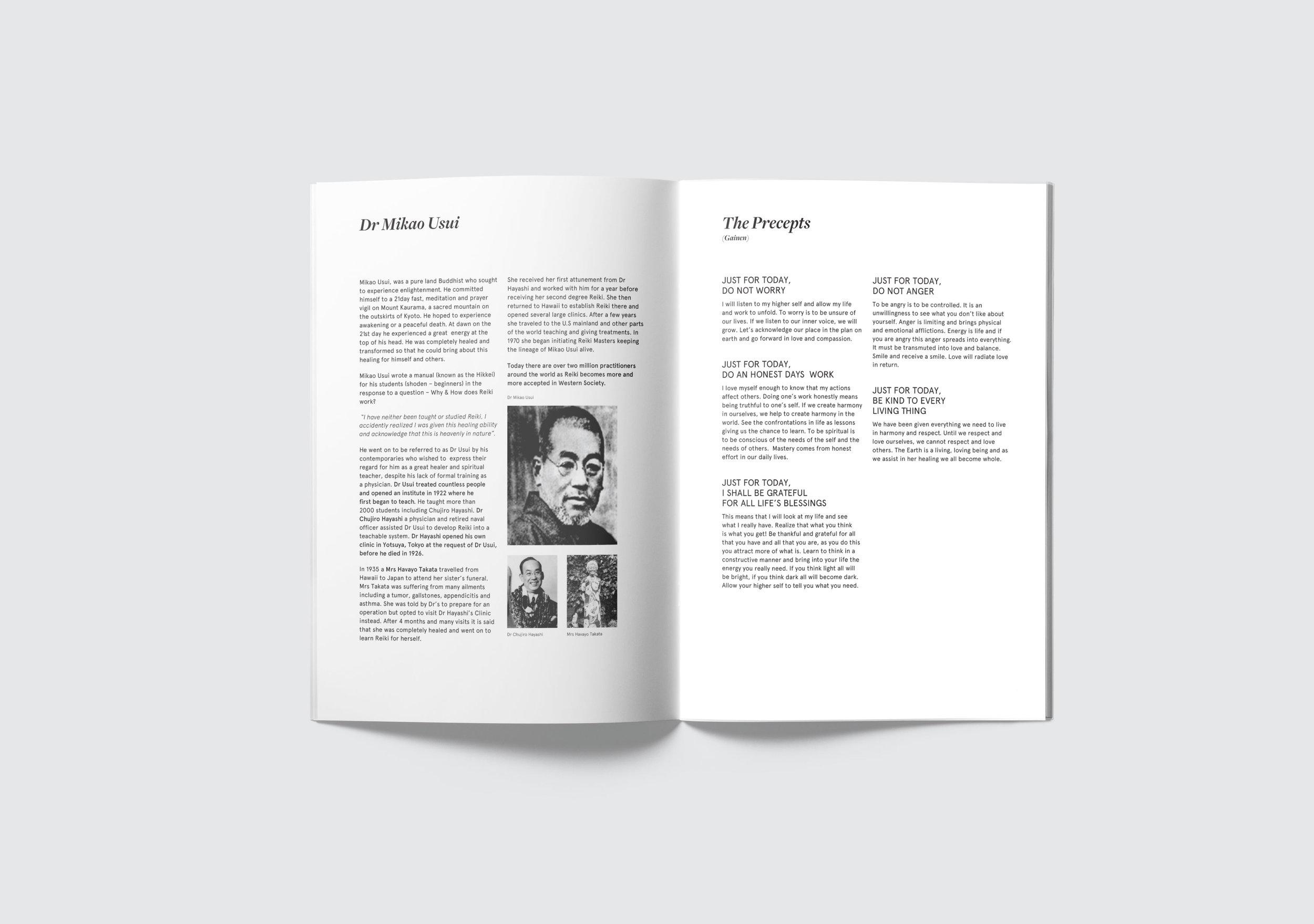 Seven Points Reiki 1 manual, publication design