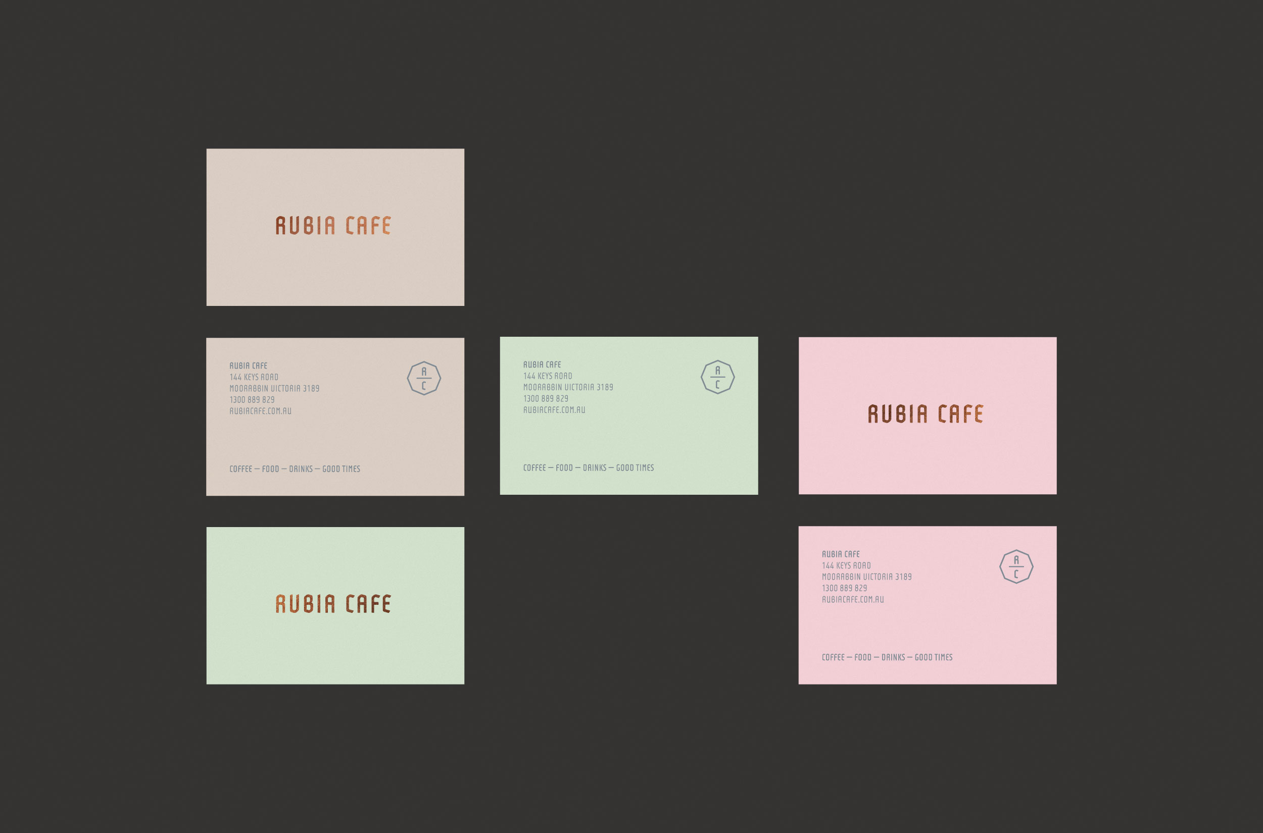 Rubia Cafe Business Cards