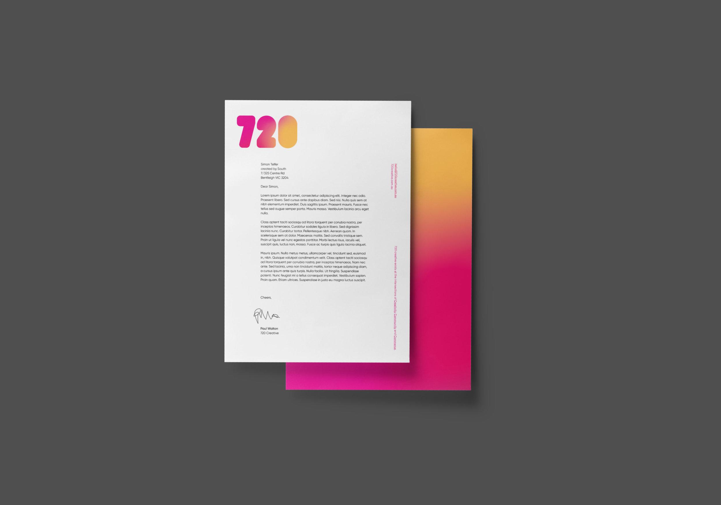 720 Creative Letterhead