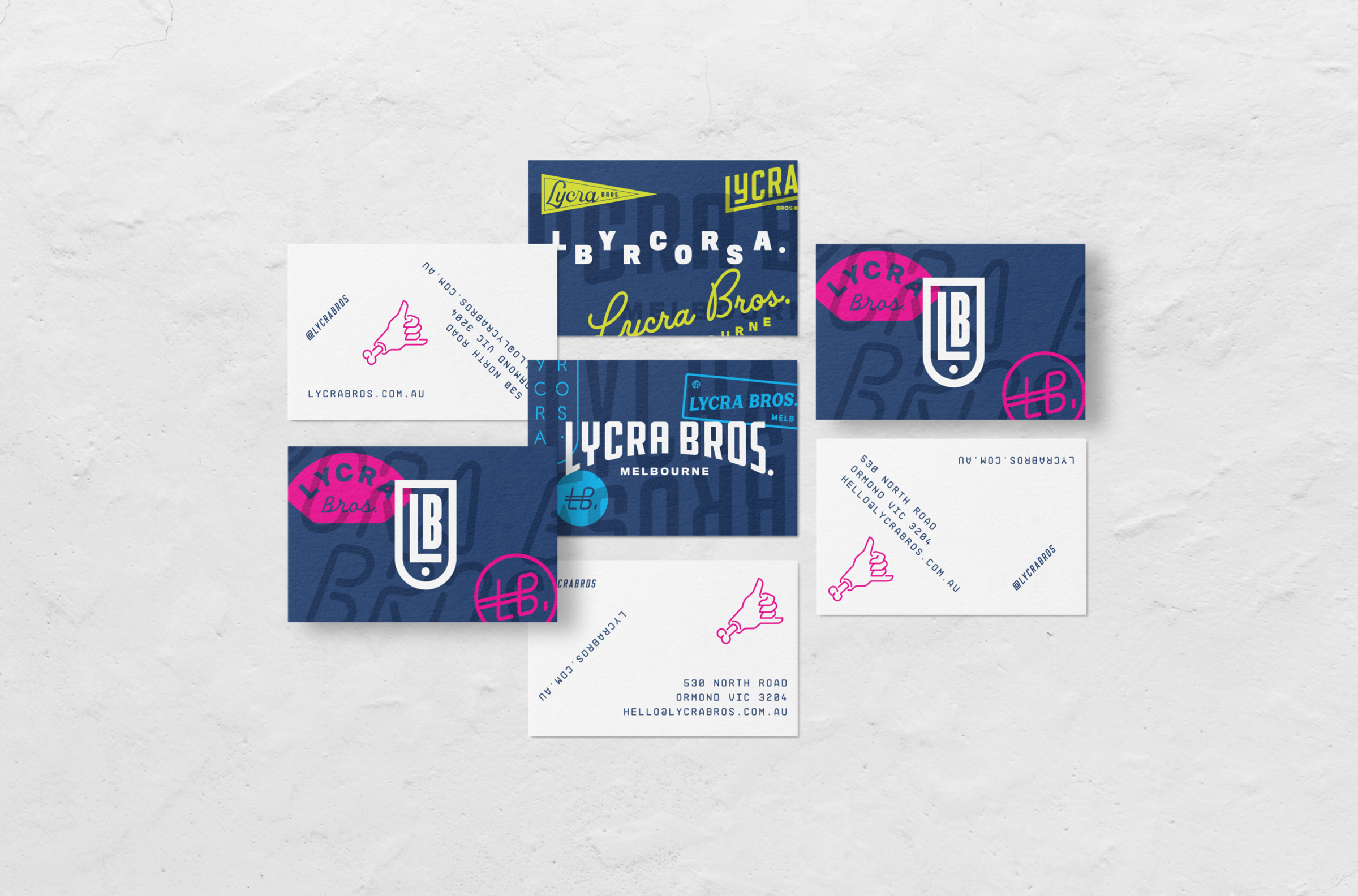 Lycra Bros. business cards
