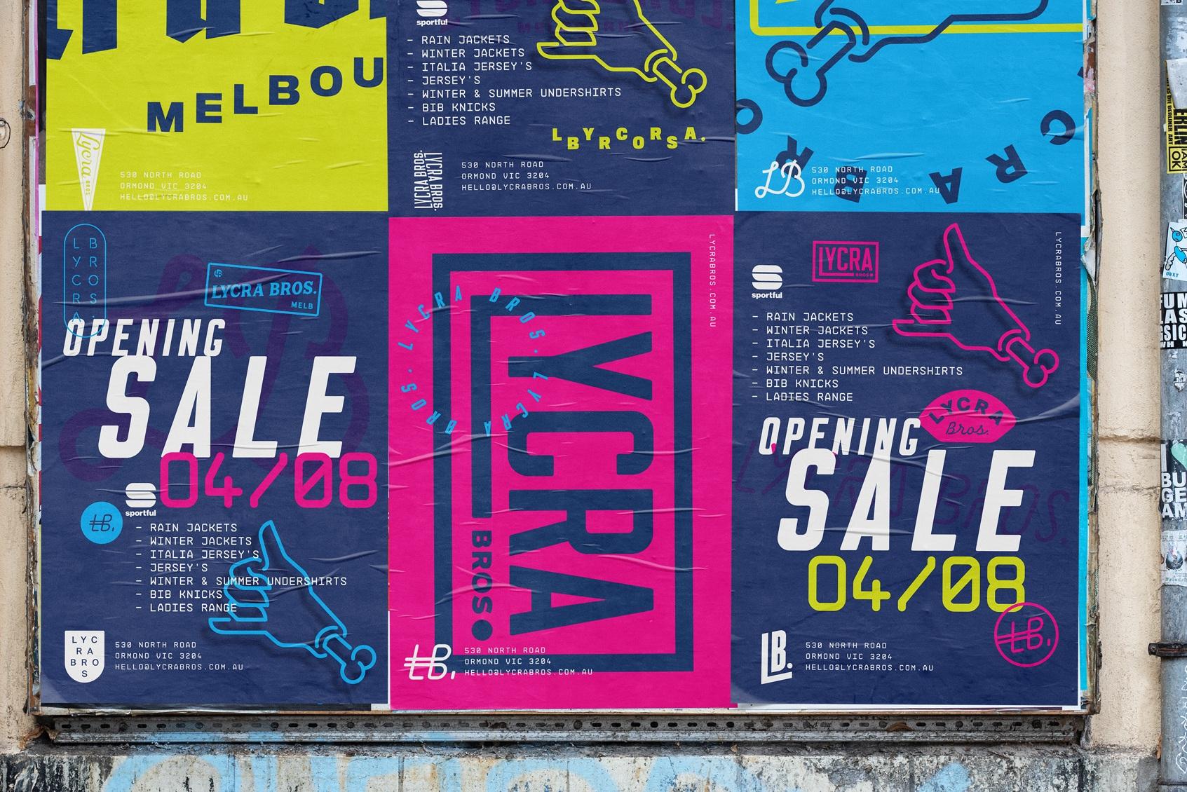 Lycra Bros - Branding, Collateral, Environment