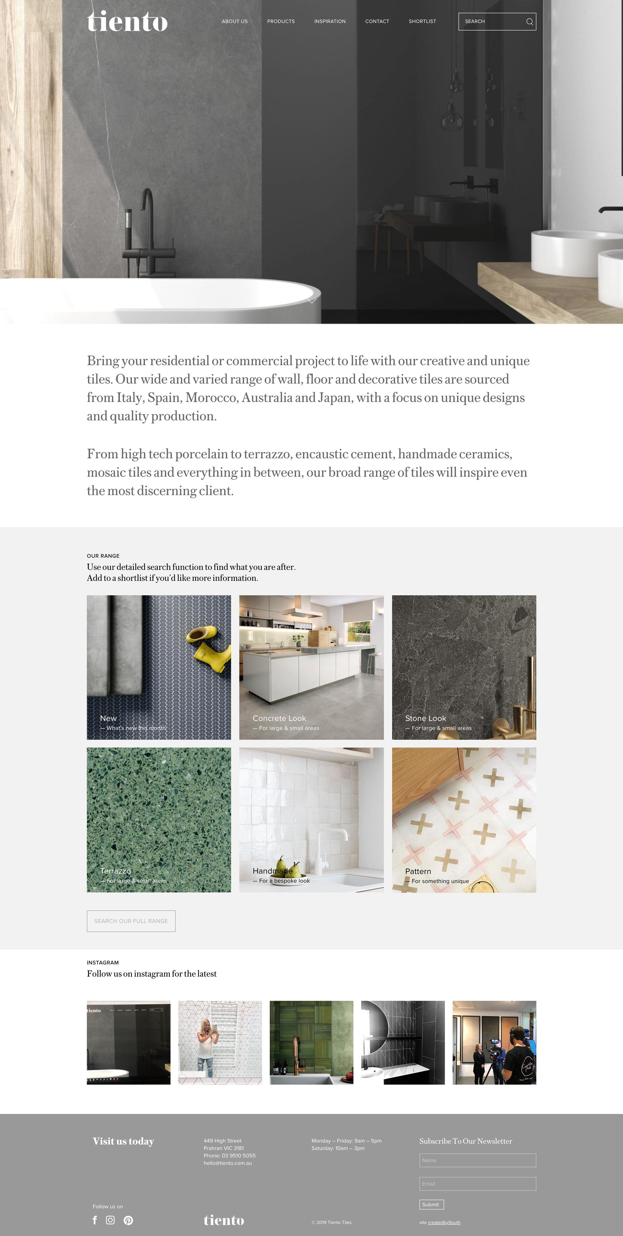Tiento Tiles Website
