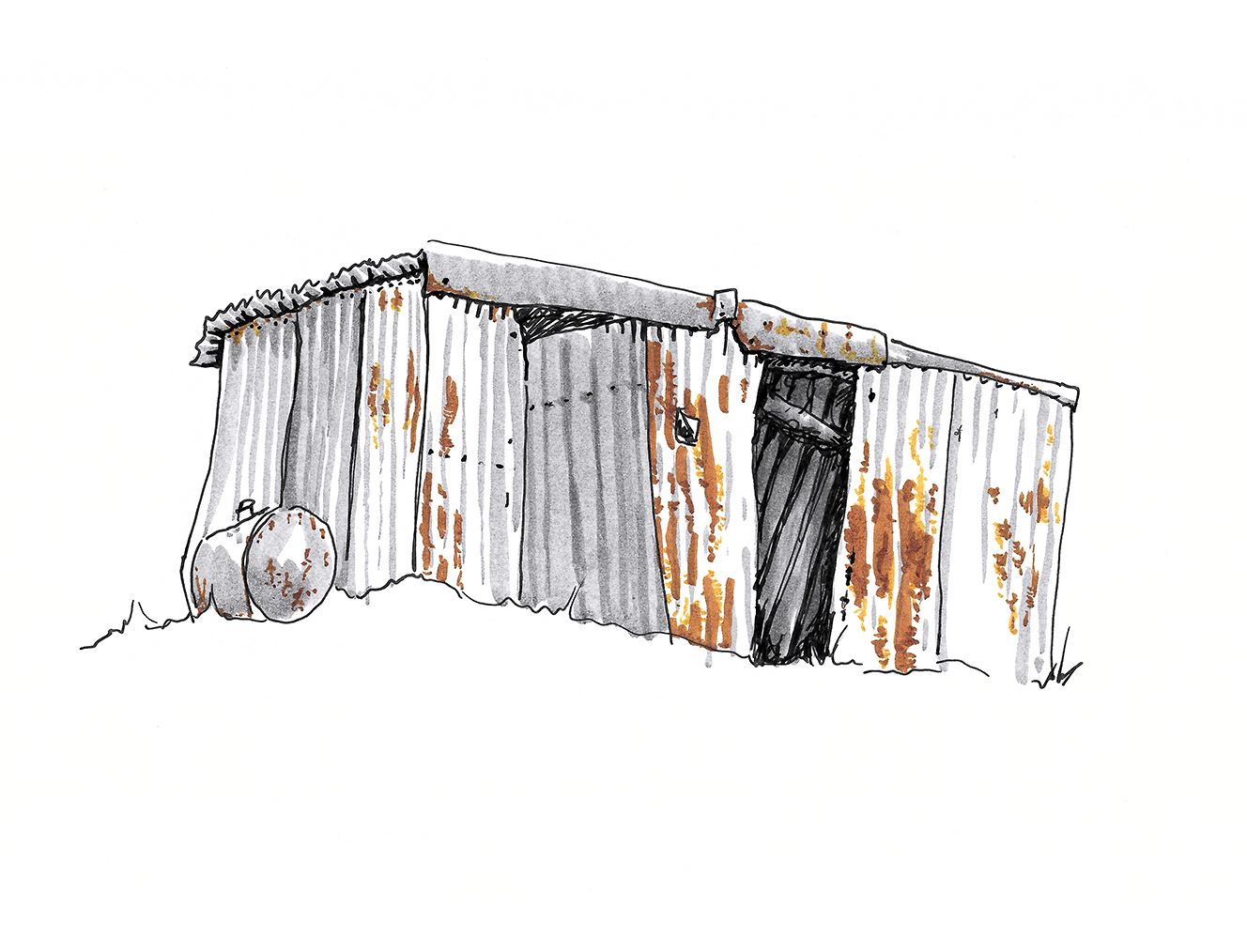 An Empty Tin Shed
