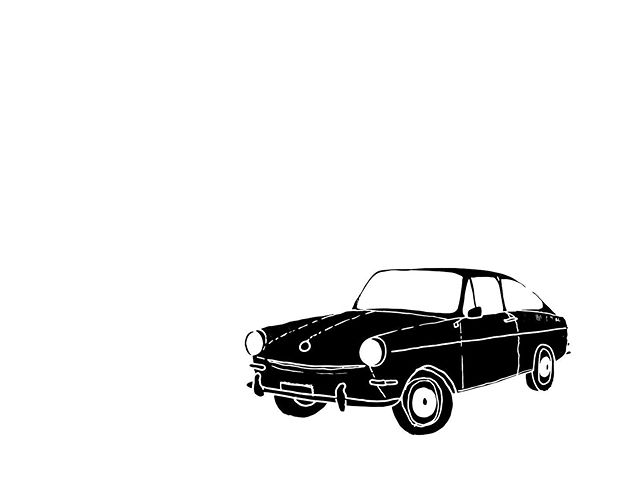 Outtake from a recent commission from some family friends and their new ride 😎 . . . . . . #calvertillustrations #67Volkswagen #type3fastback #illustration #illustrator #drawing #sketch #design #graphicdesign #blackandwhite