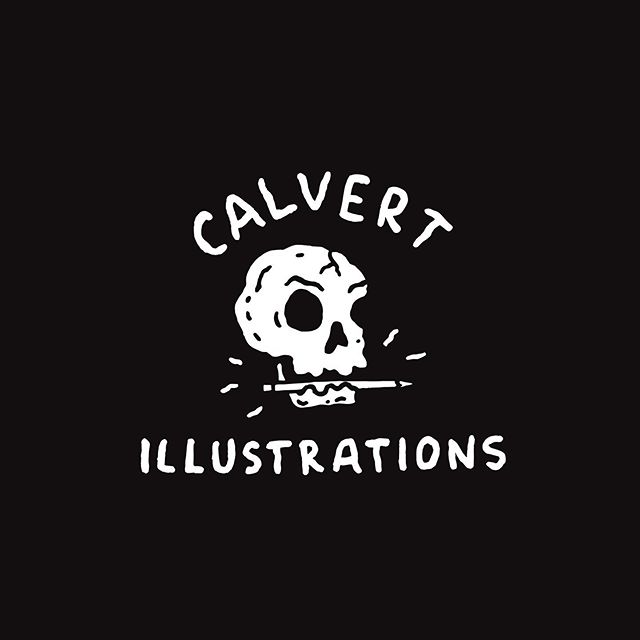 Might be coming up with another fun batch of stickers, but I'll always love this one . . . . . #calvertillustrations #illustration #illustrator #drawing #painting #design #graphicdesign #graphicdesigner #sketch #handdrawn #logo #logodesign