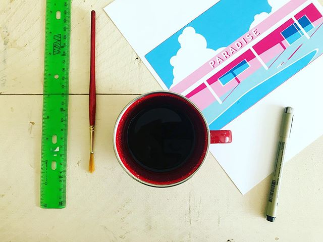 Tools of the trade (they're just different coffee cups) . . . . . #calvertillustrations #illustrator #design #illustration #graphicdesign #sketch #drawing #graphicdesigner #morecoffee