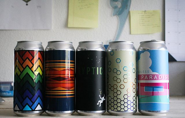 The first 5 can designs I've created for Ventura Coast Brewing Company. Released from left to right starting with their first can design ever (Rainbow Peaks)! I'm really proud of these and to work with my friends. . . . Has anyone had a sip of all 5?? Do you have a favorite? (You can say none, Josh's designs are better 😘 @swenyoatomico ) . . . Fun facts: •My favorite can is still Refractal, the cream colored can. I just love how the colors and look turned out. •The astronaut on the Cryptic can has a name tag with my initials on it 😏 •My initials and Kelseys favorite number are hidden in the Endless Paradise design ❤️ . . . . . #calvertillustrations #candesign #graphicdesign #illustrator #illustration #design #craftbeer #venturacoastbrewingco #vcbc #localbeer