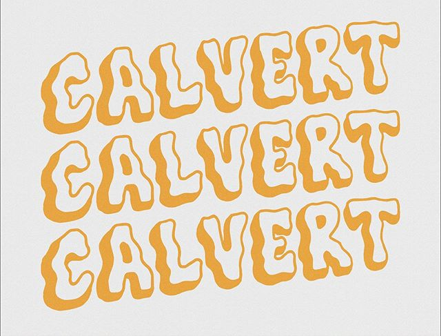 Been really diggin some lettering practice lately ✍🏼 Hand drawn, laid out and colored in illustrator, little extra texture in photoshop. . . . . . #calvertillustrations #typography #drawing #sketch #design #grapicdesign #font #handdrawn #handmadefont #calvert #lettering #handlettering