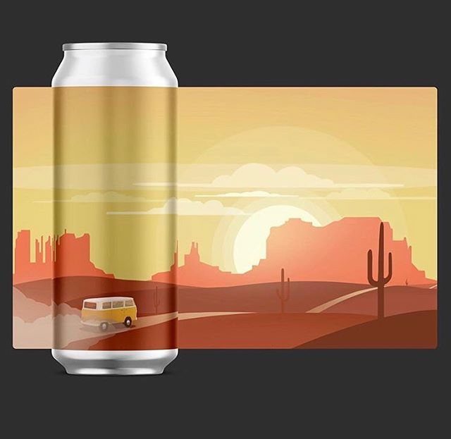 @vcbcbeer put on such an awesome can art show this last Thursday, and we tied for first place! @vanwagonwheels and I collaborated our design from our last road trip out to Utah. . . .  And we tied with @kylieo.0 and her amazing design if you swipe over (you killed it girl) Bonus, I think they look super cool together. . . . So thanks to everyone that made it out and voted, it wouldn't have been as fun without all of you to hang out with! Till the next one 🍻 . . . #calvertillustration #candesign #drawing #sketch #doodle #rendering #design #graphicdesign #craftbeer #artshow #artcontest #illustration #illustrator #photoshop