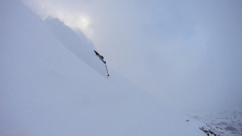 October 12, 2014: Cold dry powder in October is not unusual at 13000'