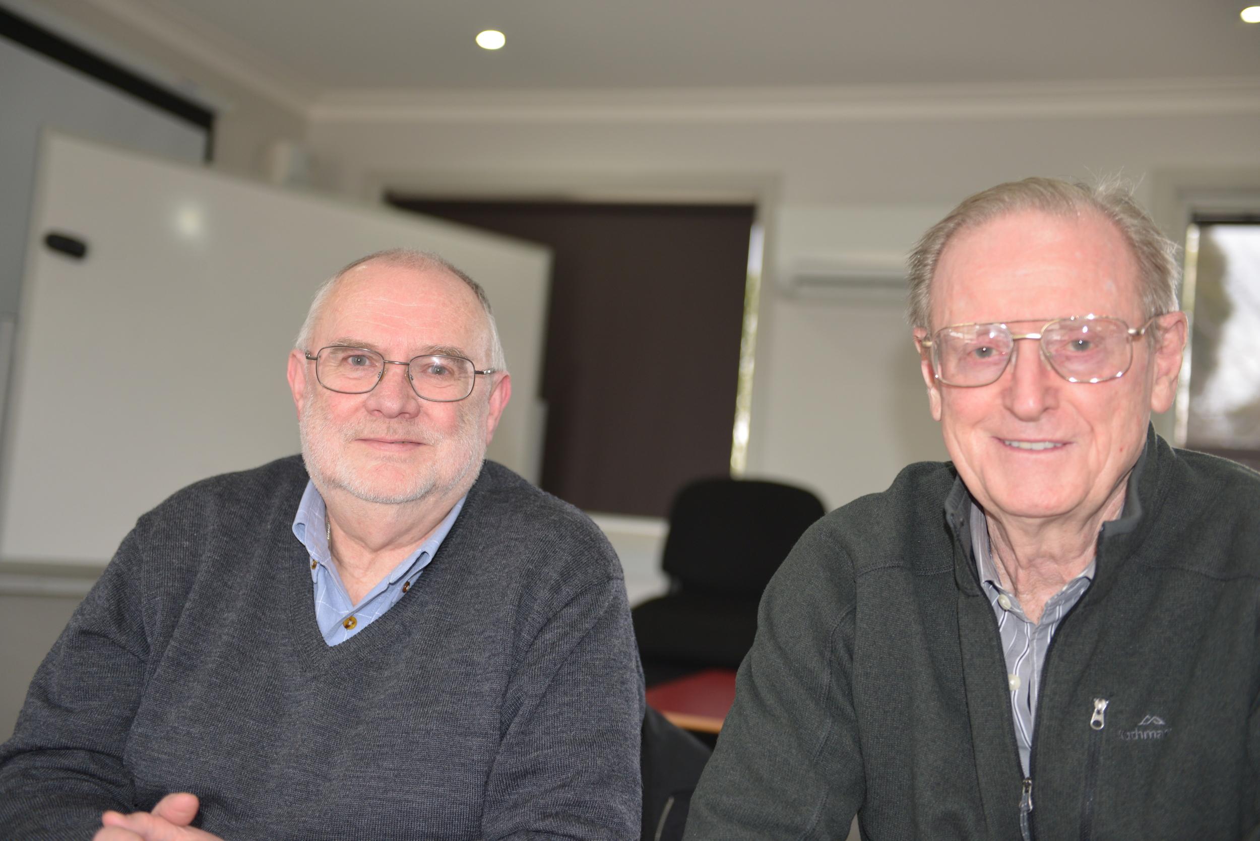 (L to R) Brian Buxton, Brian Millane