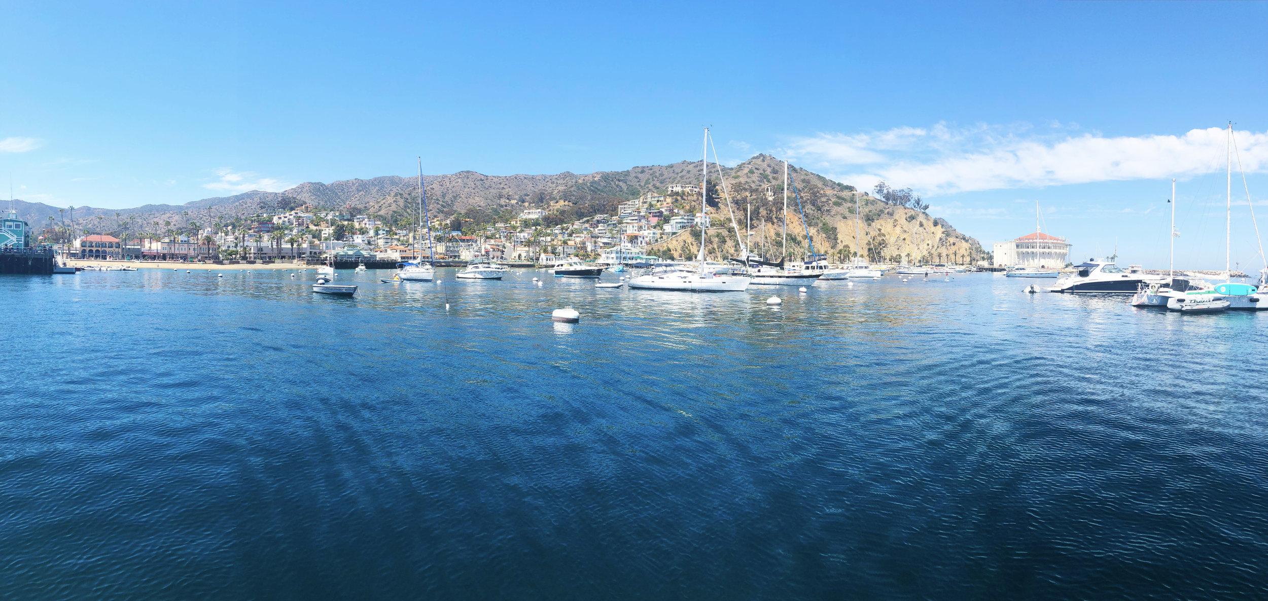 Panoramic views of Catalina