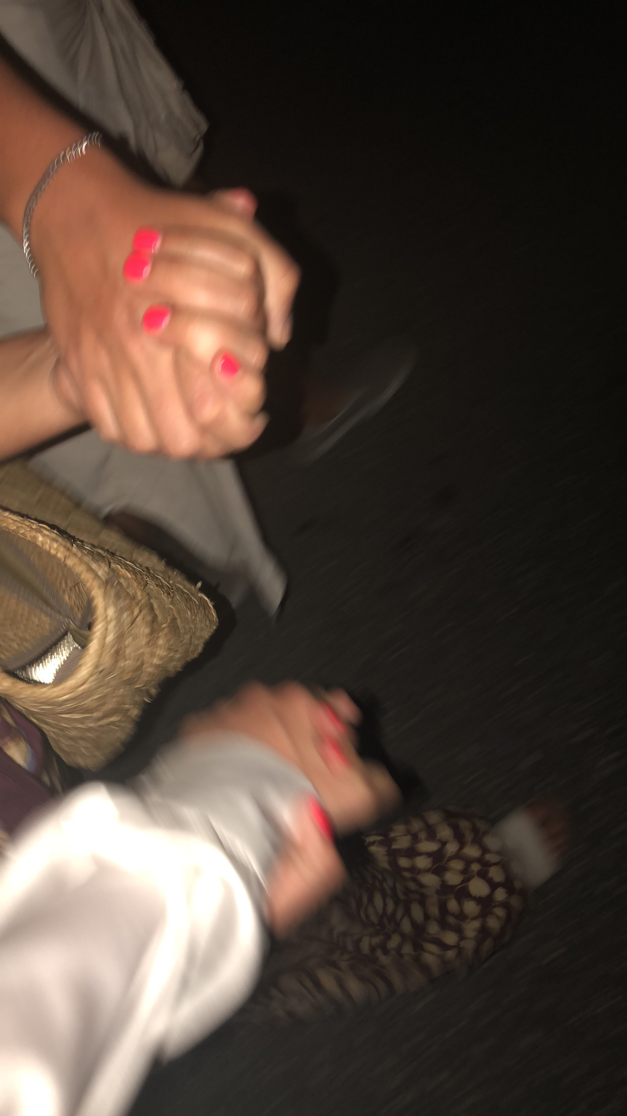 Lauren, Gianna and I holding hands on the way home from the Fish Fry-safety first!