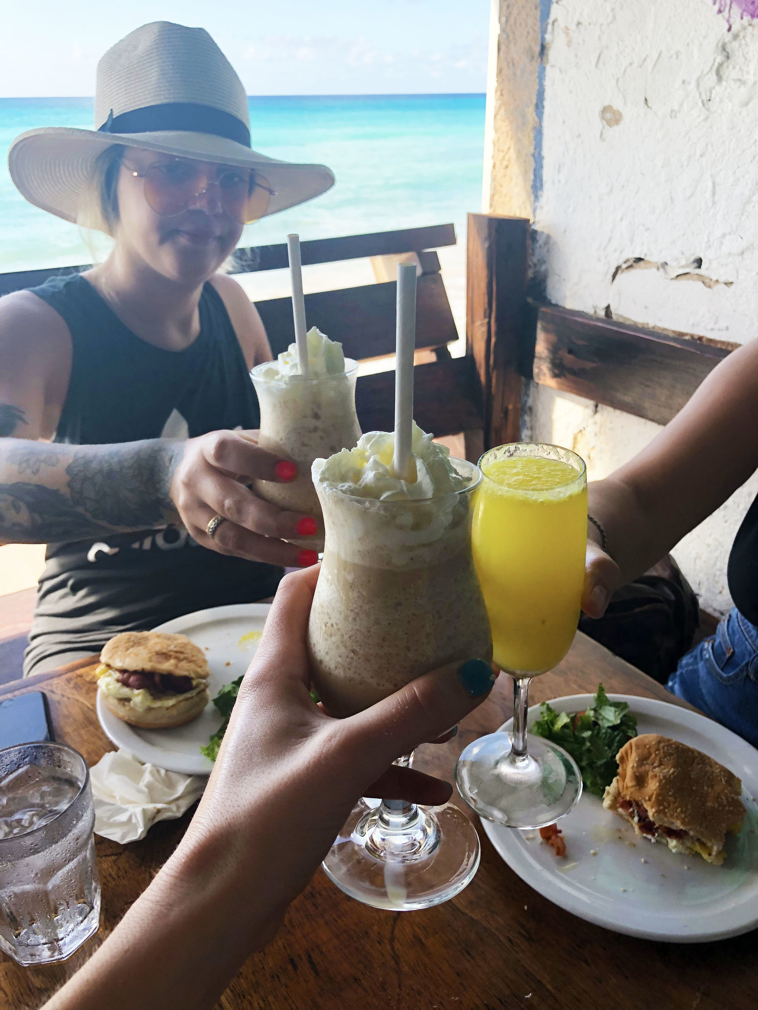 Cheers at Surfer's Cafe
