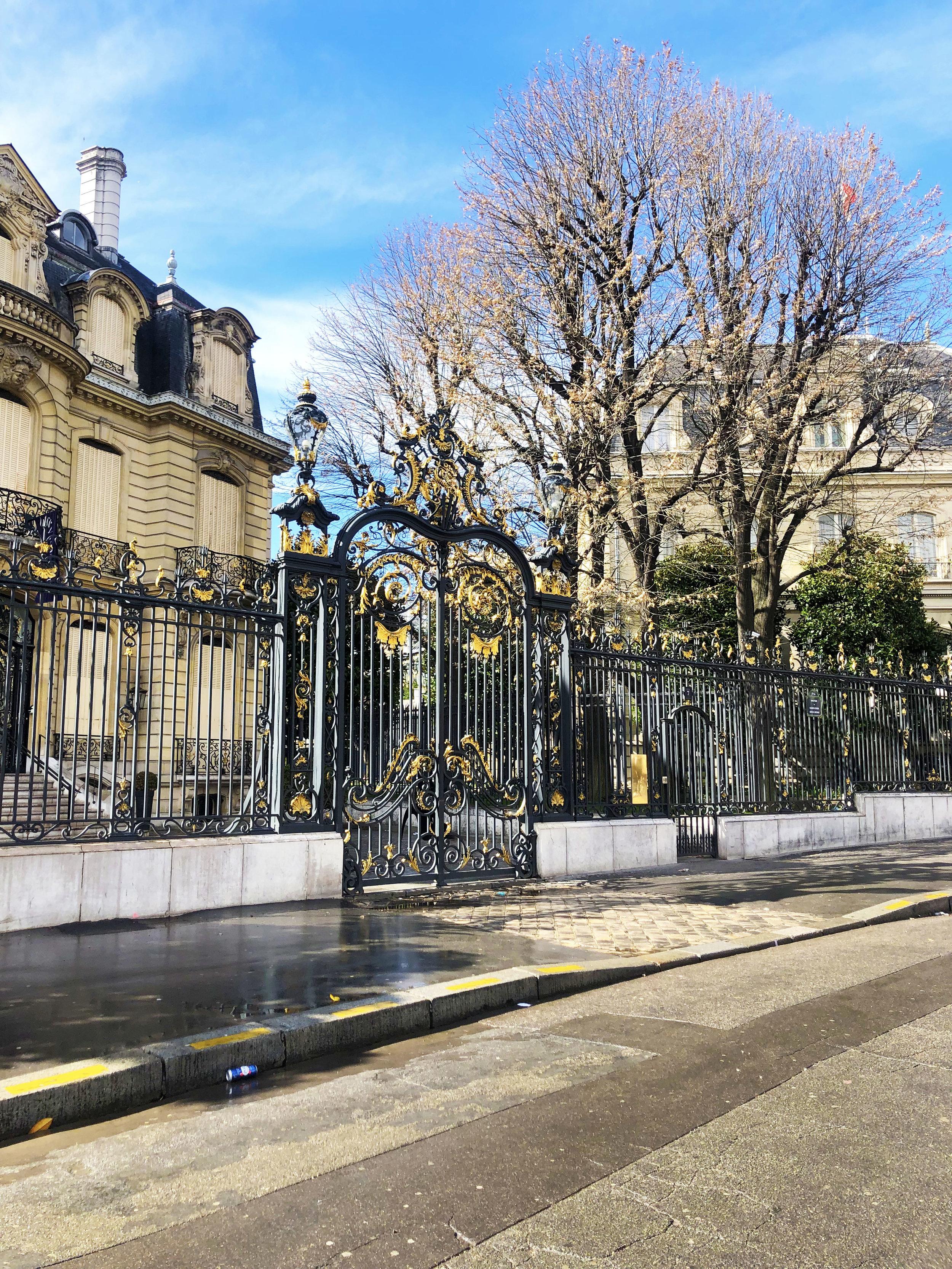 walking along the champs-élysées