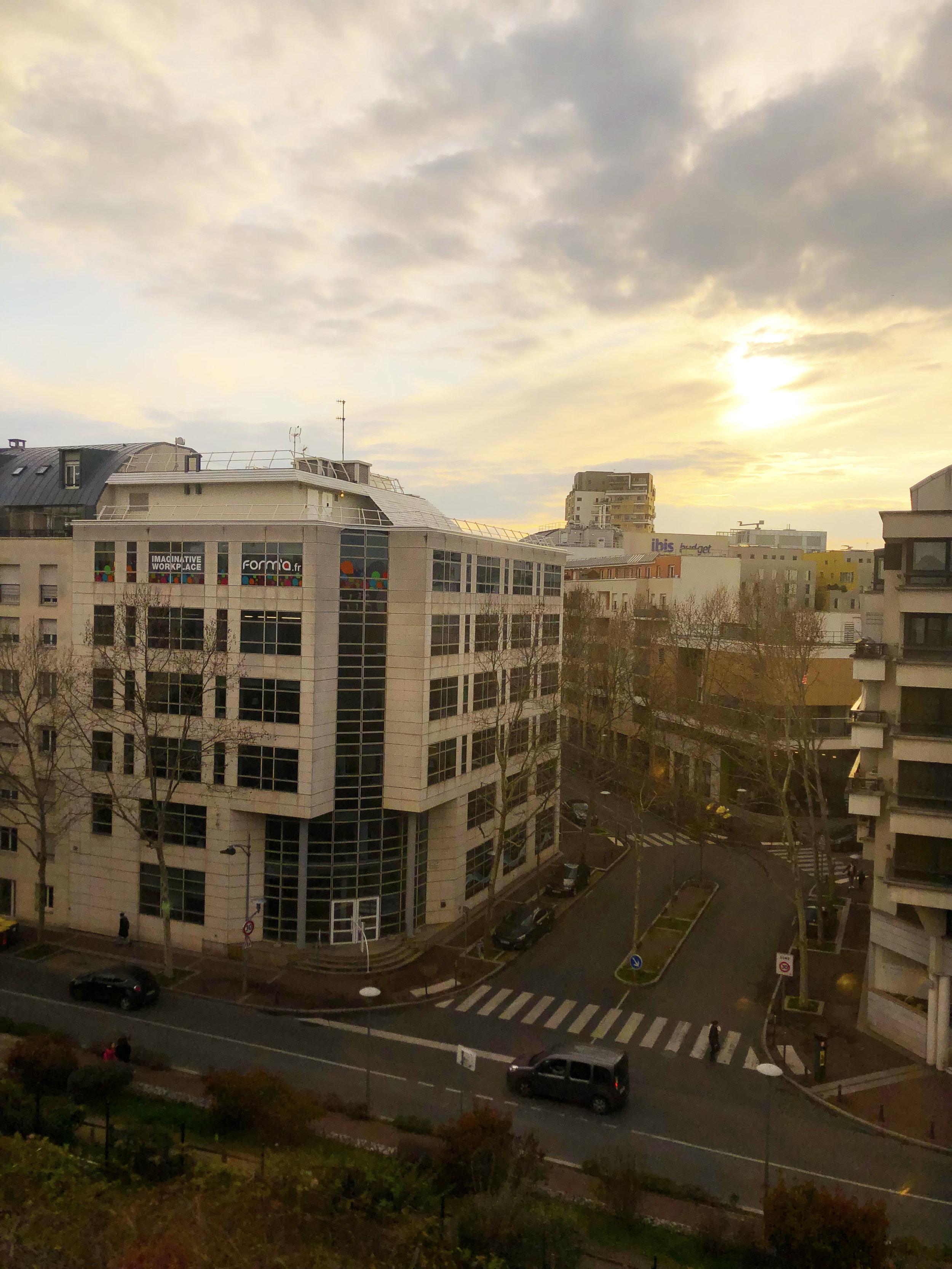 A Parisian sunset