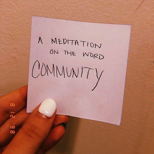 Community - What does it look like to you? Hit the link in bio for a quick meditation written by the lovely @kcya ⭐️ #inarealcoolmood