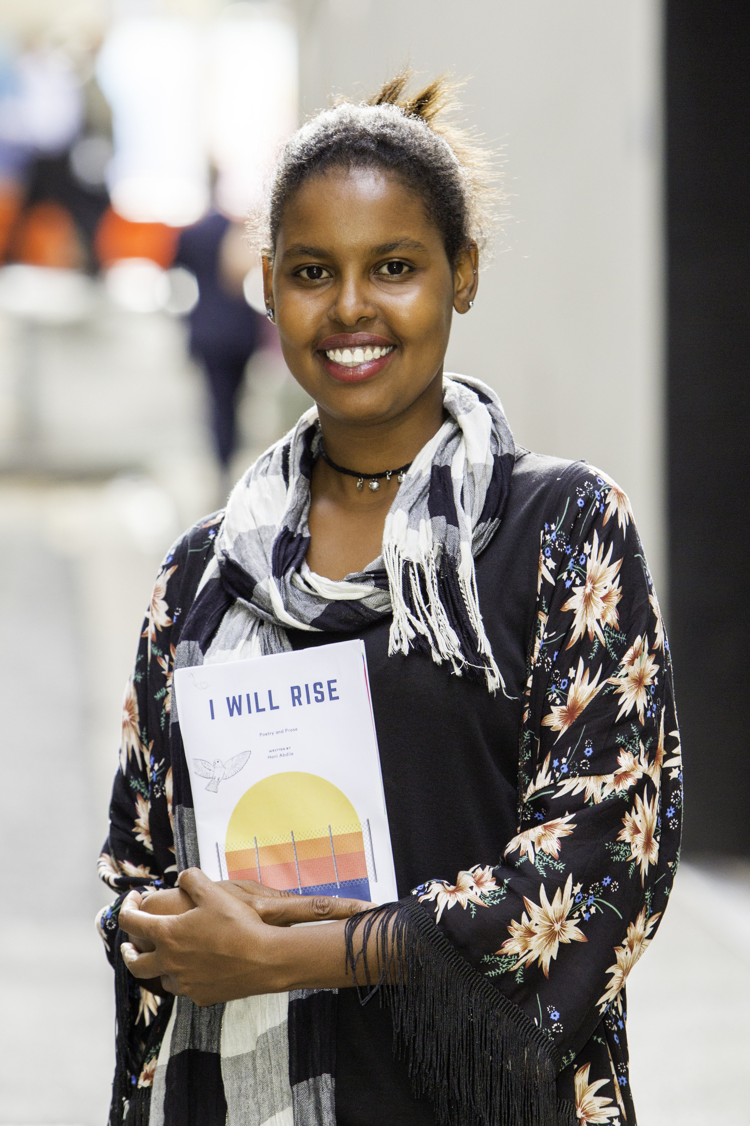 - Hani Abdile is a writer and spoken word poet, who fled the civil war in Somalia. Although only 21, Hani has already lived more than most of us; being only 16 when she fled Somalia alone, she was forced to leave her siblings and family behind. She made her way to Australia by boat and spent 11 months on Christmas Island. While detained, Hani found healing in writing poetry. Hani began writing about her life and in part, it was to improve her English speaking and writing abilities.Hani is an honorary member of PEN International, a lead writer for the Writing Through Fences group, and has received numerous awards for her community work and many achievements since being released from immigration detention. Her first book I Will Rise was published in 2016 to critical acclaim. Hani continues tapping into the power of the spoken word, and has a strong vision to shape the world through pen and paper.Appearing at Africa Is Not A Country