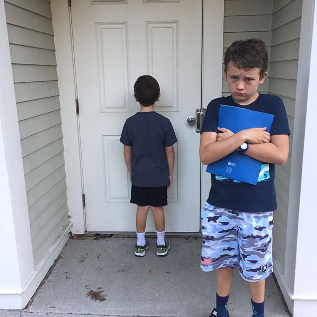 If you need a giggle, swipe. This is how we do back to school over here in JP. We should have a New Yorker caption contest for these shots. #backtoschoolaintalwayspretty