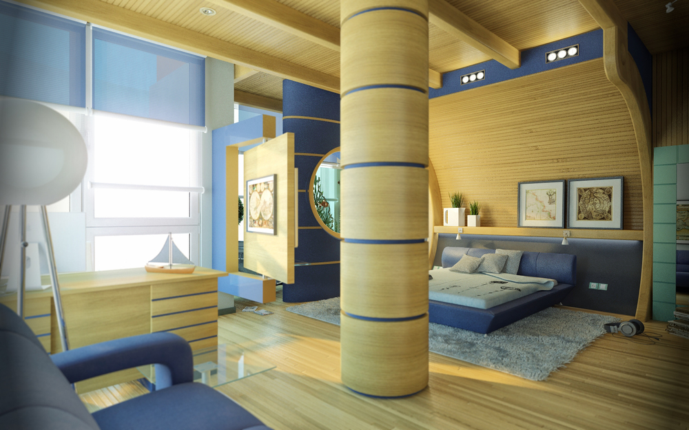 A 3d interior visualization of an awesome bedroom one of our clients designed