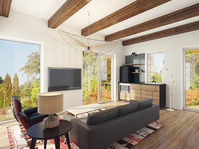 Photorealistic visualizations, so you can see what your architecture ideas will look like in real life!