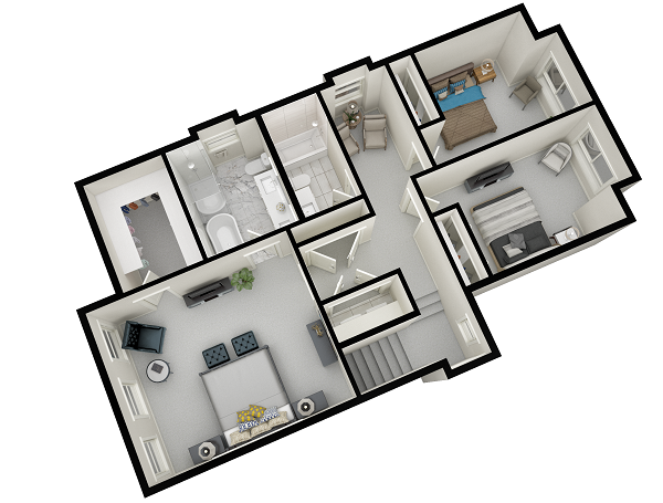 We wanted to start the list with a couple of  floor plan renderings , we know that these aren't the most impressive or creative, but they can bring great results when marketing your project.