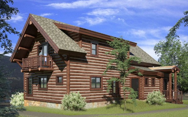 Now this is what we call a cabin in the woods! If you think that making renderings like this one is expensive they can actually be very affordable! ( and click here if you want to ask us about it )