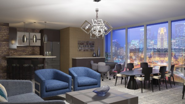 We've just reached the top 5 renderings of the last 2 months, and I'm sure you'd agree, they're stunning. Just look at how alive the city is outside those windows, and how light and shadow interacts inside the space on the different textures and colors!