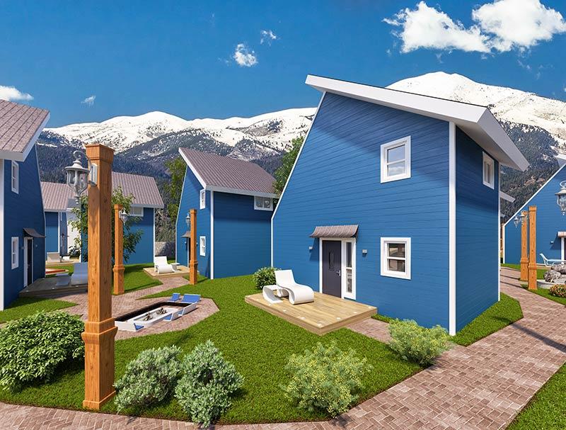 Custom 3d Renderings For Tiny House Plans Designs Blueprints