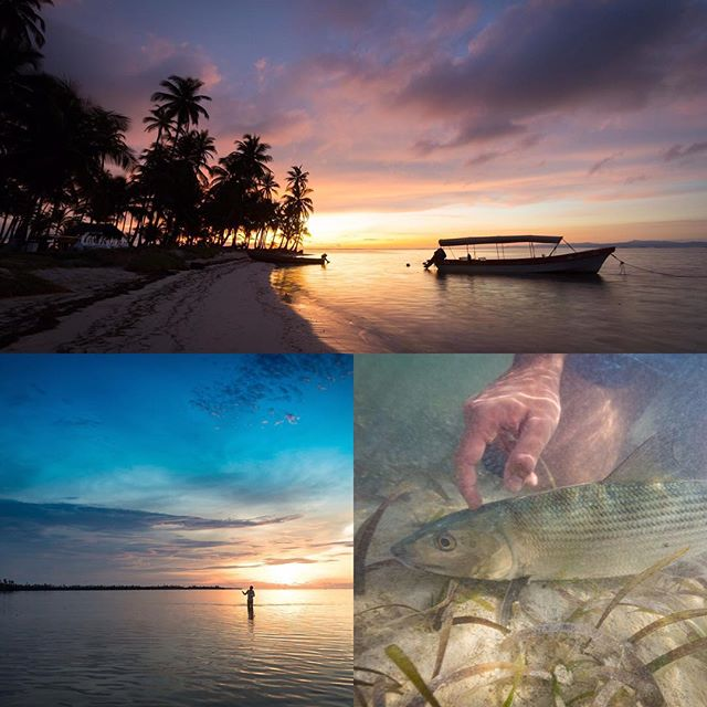 We have very few beautiful, clear water, turtle grass flats in Caribbean Central America. So we like to keep 'em quiet. Also, who can ever tell the sunrise from the sunset in pictures?  #flyfishing #sunrise #sunset #flatsfishing #bonefish #sightfishing