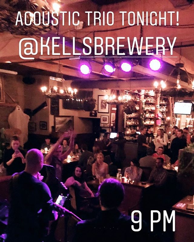 We're back at Kells Brewery tonight as a trio!! No cover, great atmosphere, and wide open set lists make these shows truly special!! See you tonight!! 9p-12a  #brianodellband #livemusic #portlandlivemusic #lovelivemusic #originalmusic